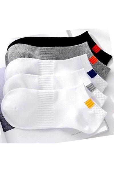 Unisex 5'li Spor Patik Çorap Yıkanmış
