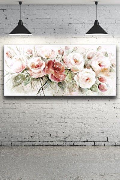 - Çiçek Buketi Suluboya Kanvas Tablo