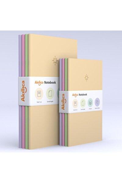 8'li Defter Set Noktalı Soft Pastel Notebook