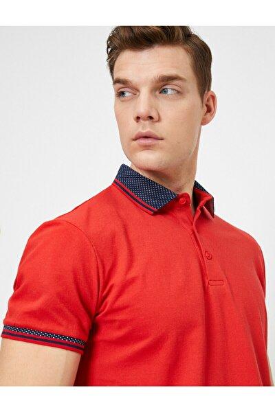Erkek Kırmızı Polo Yaka T-Shirt 0YAM11515LK