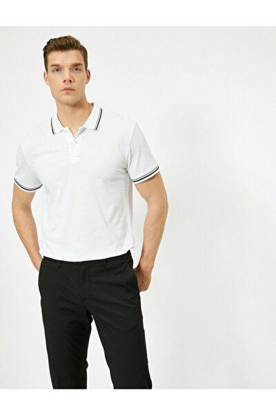Erkek Beyaz T-Shirt 0YAM11203LK