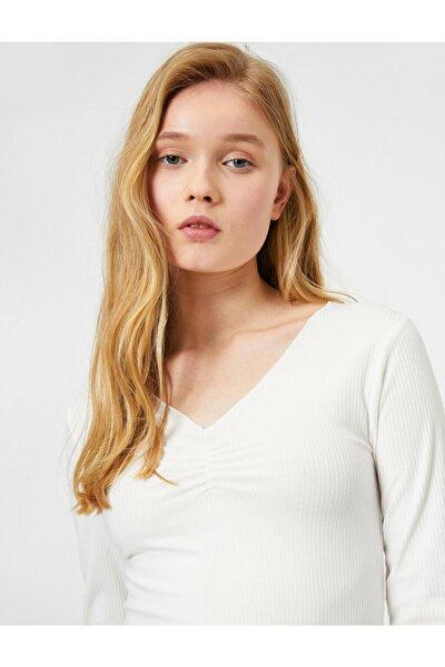 Kadın V Yaka T-shirt