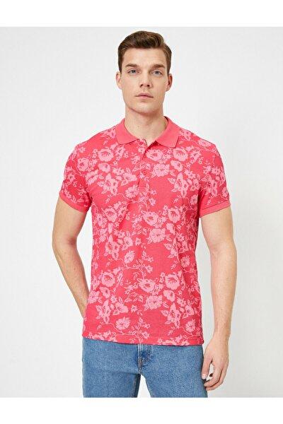 Erkek Pembe Polo Yaka T-Shirt 0YAM12337LK