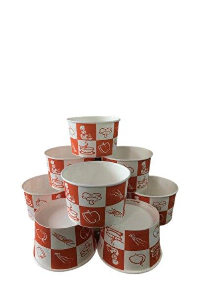 Karton Kağıt Çorba Kasesi 16 oz 500 ml Kap Kapak Set 100 Adet