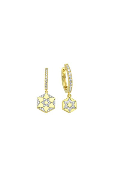 Gold Chiron Star Earring 925 Ayar