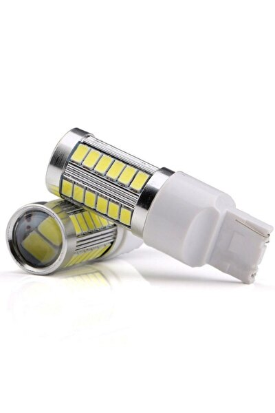 T20 Geri Vites Ampulü Mercekli W21w Güçlü Beyaz Işık 12v
