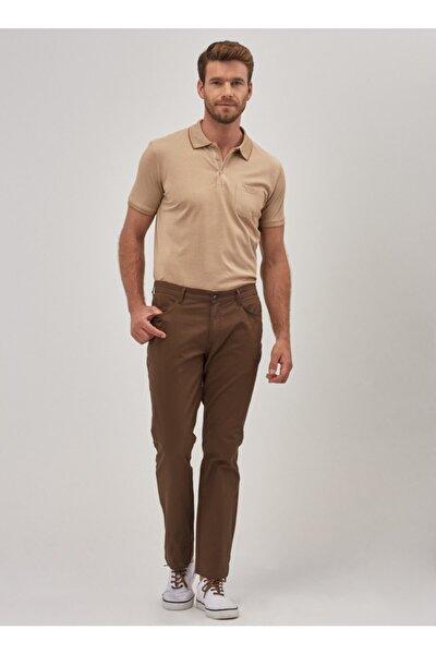 Erkek Vizon Slim Fit Chino Pantolon