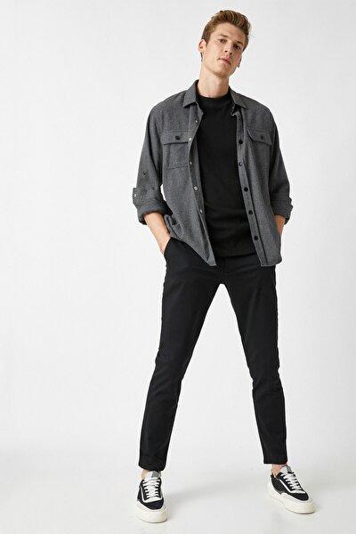 Erkek Siyah Jeans 1YAM42100BW
