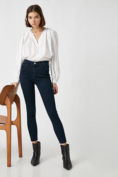 Kadın Orta Indigo Jeans 1KAK47323MD