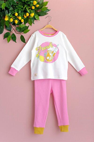 Fresh Limon Baskılı Kız Çocuk Pijama Takımı