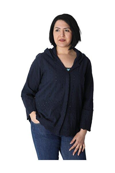 Kadın Lacivert Gömlek 55203200001705
