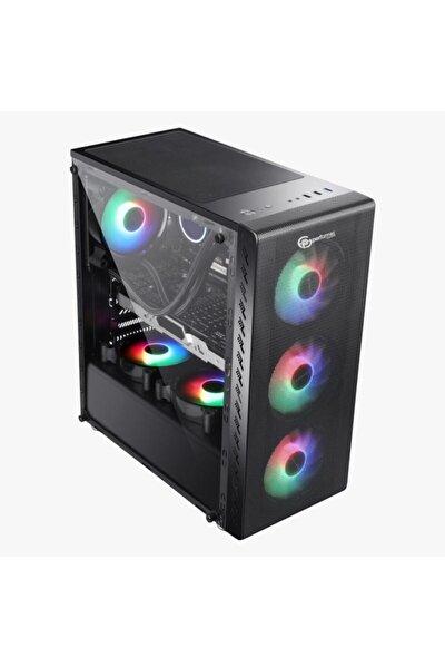 Xenom Siyah Akrilik Pencereli 4xraınbow Fan Atx Kasa