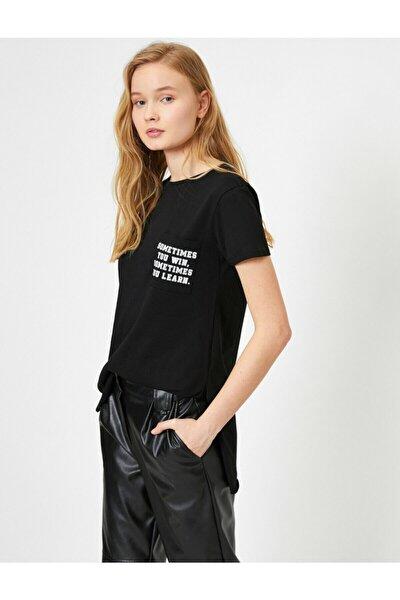 Kadın Yazili Baskili T-shirt