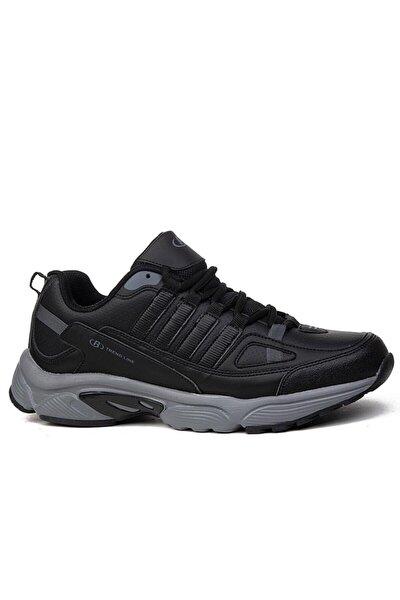 Erkek Siyah Füme Renk Spor Ayakkabı