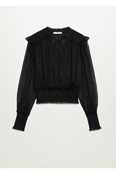 Fırfırlı Plumeti Bluz