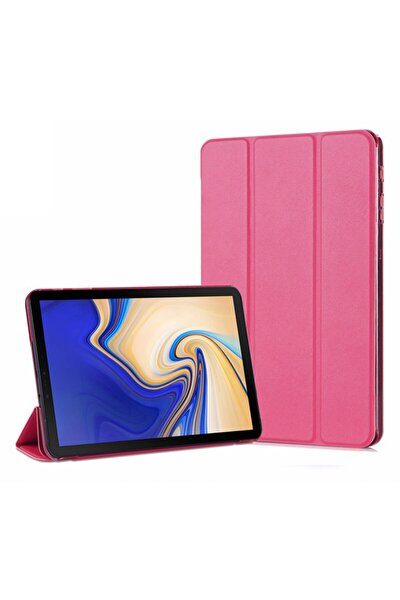 Galaxy Tab A 10.5'' T590 Smart Case Ve Arka Kılıf, Microsonic Pembe
