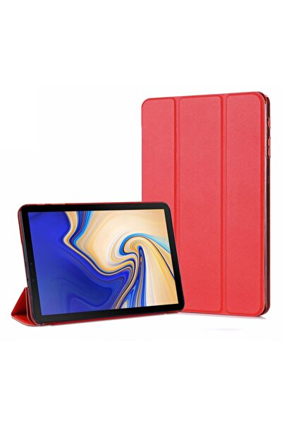 Galaxy Tab S4 10.5'' T830 Smart Case Ve Arka Kılıf, Microsonic Kırmızı