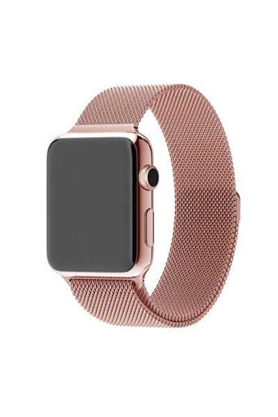 Apple Watch Hasır 38mm / 40mm Metal Kordon Rose Gold