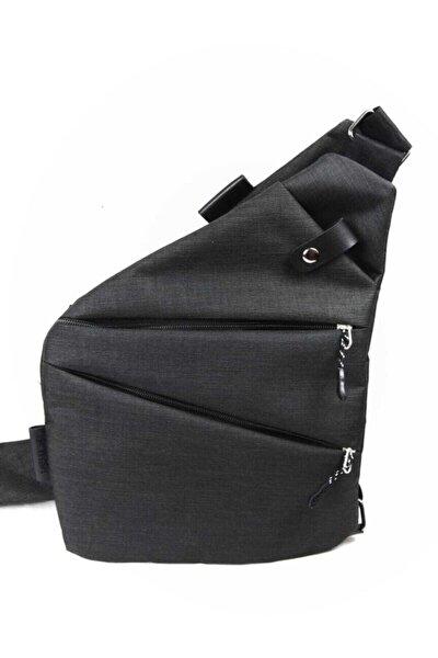 Unisex Siyah Çapraz Celart Tablet Çanta