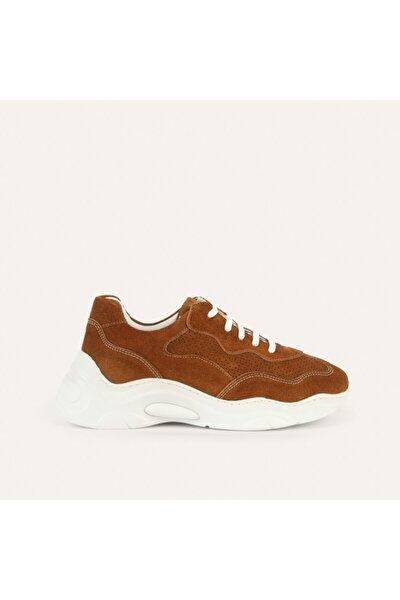 Kadın Kahverengi Kalın Tabanlı Deri Sneaker 1217653