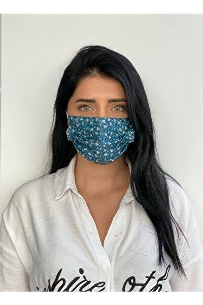 10 Adet Desenli Baskılı 3 Katlı Burun Telli Meltblown Ara Katmanlı Maske