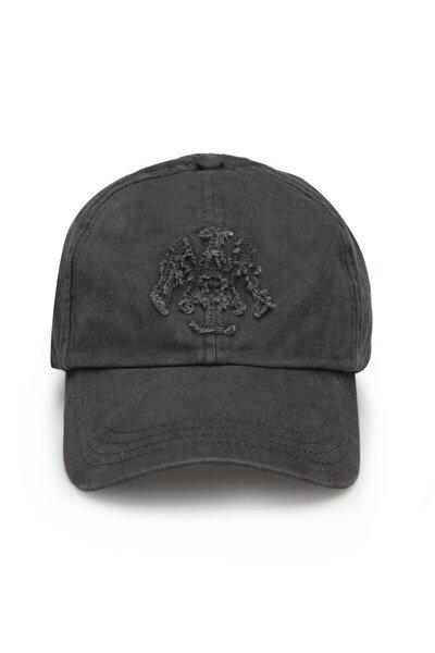 Mühür Logo Gri Şapka