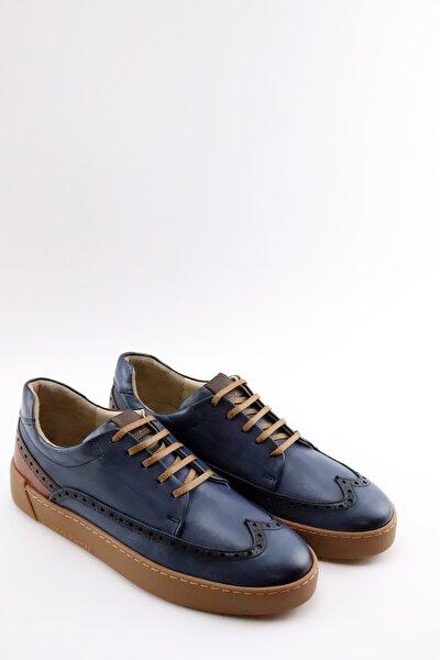 Fenando Lacıvert Hakıkı Derı Sneaker