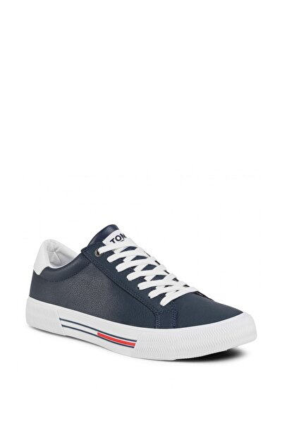 Erkek Lacivert Essential Leather Erkek Sneaker Ayakkabı Em0em00488