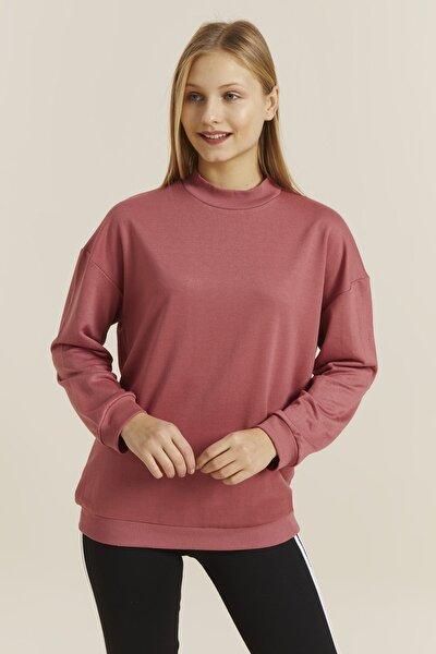 Kadın Soğan Yarım Balıkçı Tunik Sweatshirt 19556