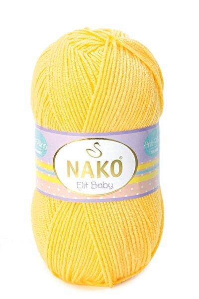 ( 5 Adet ) Elit Baby 2857 Sarı El Örgü Iplikleri Yelek Hırka Kazak Ipliği Bebe Battaniye Ipi