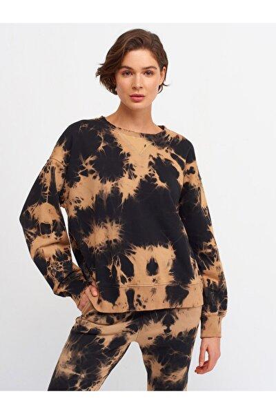 Kadın Camel Batik Sweatshirt 3580