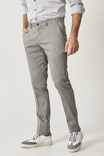 Erkek Siyah Slim Fit Casual Pantolon