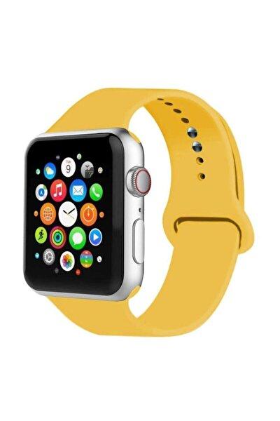 Apple Watch Sarı Kordon 42 mm 44 mm Silikon Kordon
