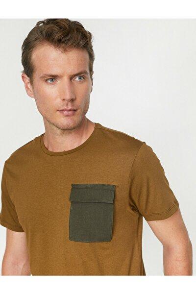 Erkek Yeşil Cep Detaylı T-Shirt 0KAM11964MK