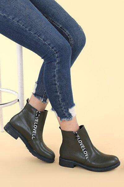 C901-07 Cilt Termo Taban Kadın Bot Ayakkabı