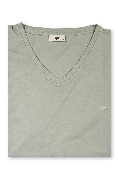 Erkek Yeşil Modern Fit T-shirt