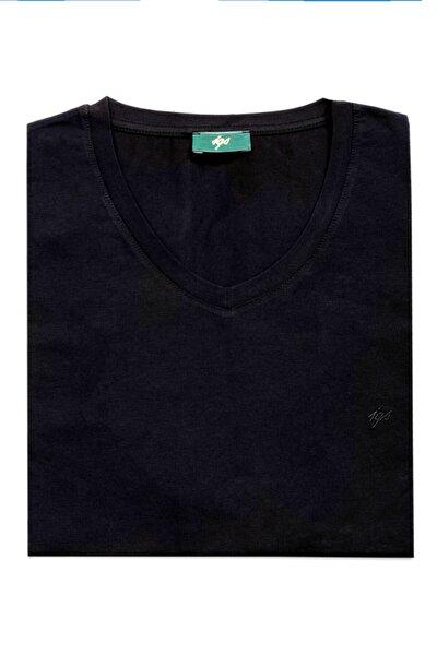 Erkek Siyah Modern Fit T-Shirt