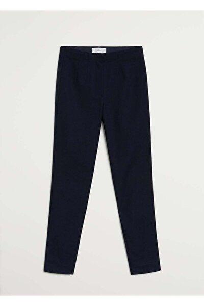 Kadın Lacivert Beli Elastik Pantolon 77072507