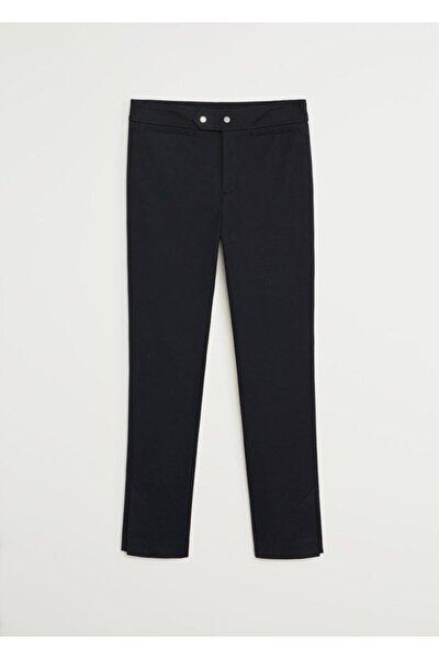 Kadın Siyah Dar Kesim Kısa Paçalı Pantolon 67045916