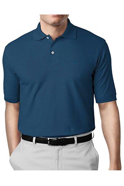 Erkek Petrol Modern Fit Polo Yaka T-shirt