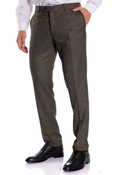 Erkek Kahve Slim Fit Pantolon