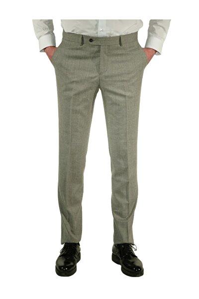 Erkek Gri Regular Fit Exclusive Pantolon