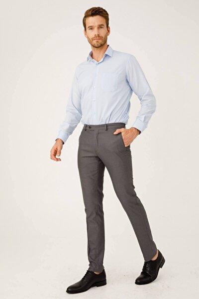 Erkek Duman Gri Rahat Kalıp Pantolon
