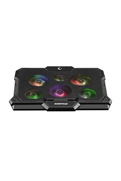 Ad-rc10 X-gust Siyah 6 Fanlı Renkli Işıklandırmalı Notebook Soğutucu Stand