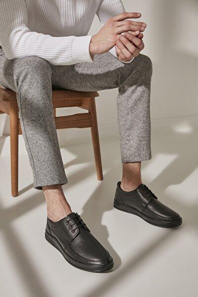 Hakiki Deri Siyah Erkek Casual Ayakkabı 02AYY194970A100