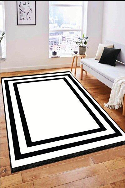 Kaymaz Tabanlı Halı Modern Klasik MK20 Beyaz