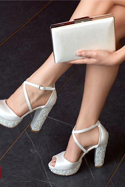 Kadın Ekru Gelin Ayakkabısı