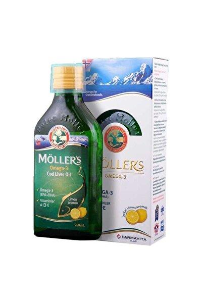 Möller's Omega 3 Balık Yağı Şurubu Limon Aromalı 250 ml
