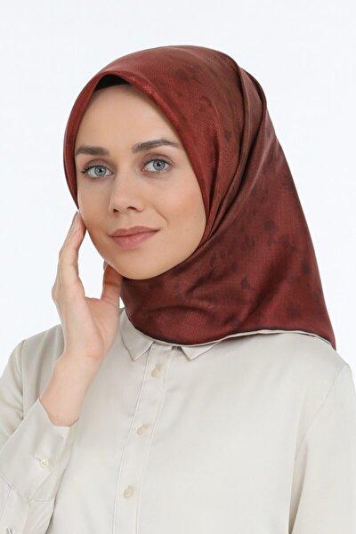 Kadın Kırmızı Twill İpek Eşarp 2642