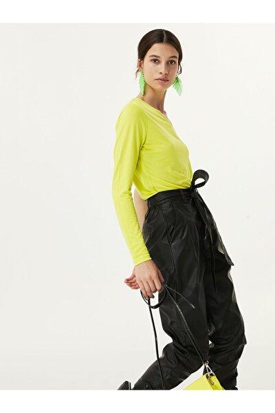Kadın Yeşil Tek Omuz Bluz